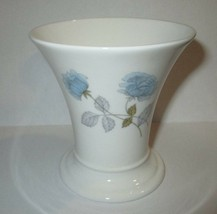 "Wedgwood Blue Ice Rose Vase 3 1/2"" image 1"
