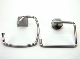 Lot of 2 Delta Lyndall LDL46-SN Everly EVE46-BN Towel Rings Brushed Nickel - $7.30