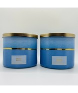 2-Pack Bath & Body Works CRYSTAL WATERS Large Scented 3 Wick Candles 14.... - $59.35