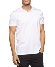 Calvin Klein Men's Premium V-Neck T-Shirt , White, Size M, MSRP $69 - $29.69