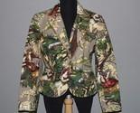 FOCUS 2000 Victorian Sequin Barkcloth-Like Lined Hvy Jacket WMS 10 UNWORN? Nice