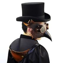 Reenactment Plague Doctor Steampunk Bird Leather Mask Halloween Gothic Cosplay image 12