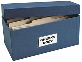 Check Storage boxes - Includes 12 dividers & clear outside label, Blue S... - $18.64