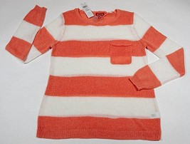 Elle Nwt Womens Large Lantana Sweater Sugary Pales Orange White Stripes Striped - $25.24