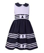 Bonnie Jean Jessica Ann Baby Girls Easter Navy Nautical Peter Pan Dress (5) - $21.89