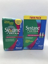 Systane Ultra Lubricant Eye Drops Alcon 25 Vials + Two 10Ml Bottles 7/19... - $29.69