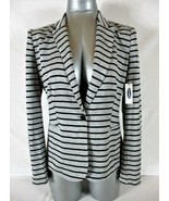 OLD NAVY womens Sz XS L/S gray black STRIPED 1 button LINED jacket NWT (... - $39.88