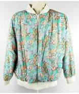 Vintage Aviat Sportif 80s 90s Geometric Design Full Zip Reversible Jacke... - $58.04