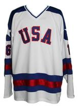 Mark Pavelich #16 Team USA Miracle On Ice Hockey Jersey New White Any Size image 3