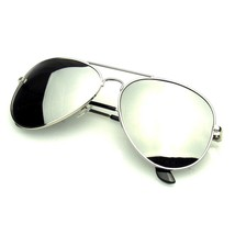 Original Silver POLARIZED FULL MIRROR AVIATOR Sunglasses - $8.57