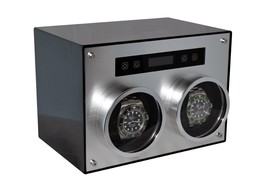 Pangaea D700 Double Metal Dual 2 Watch Winder with Cover Carbon Fiber Bo... - $199.99