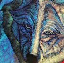 Wolf Ceramic Art Tile Walks Proud Colorful Bill Rabbit Artist USA Wildli... - $39.59