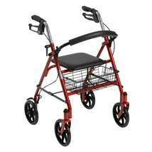 Drive Medical Four Wheel Rollator With Back Support Blue - $69.84