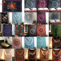 Mandala Tapestry Indian Wall Hanging Decor Bohemian Hippie Twin Bedsprea... - $1.95+