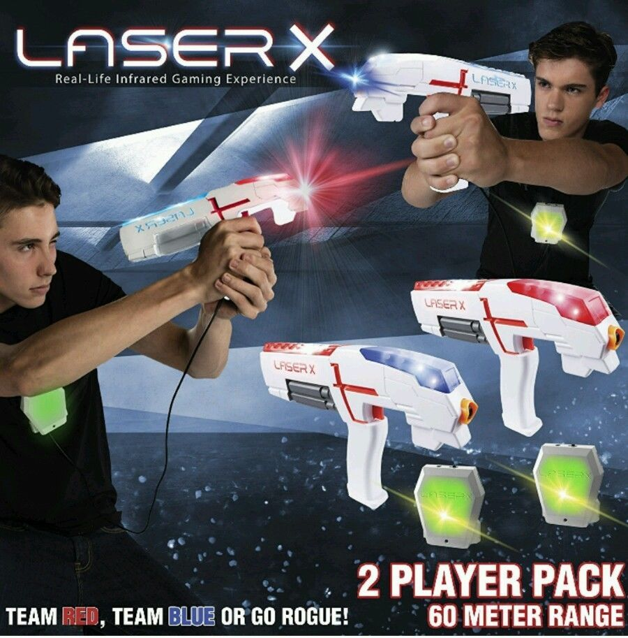 Laser X Shooting Gift Two 2 Player Tag Gaming Set Vest Sport Bag Play Fun Gun
