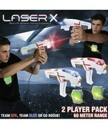 Laser X Shooting Gift Two 2 Player Tag Gaming Set Vest Sport Bag Play Fu... - $2.525,28 MXN