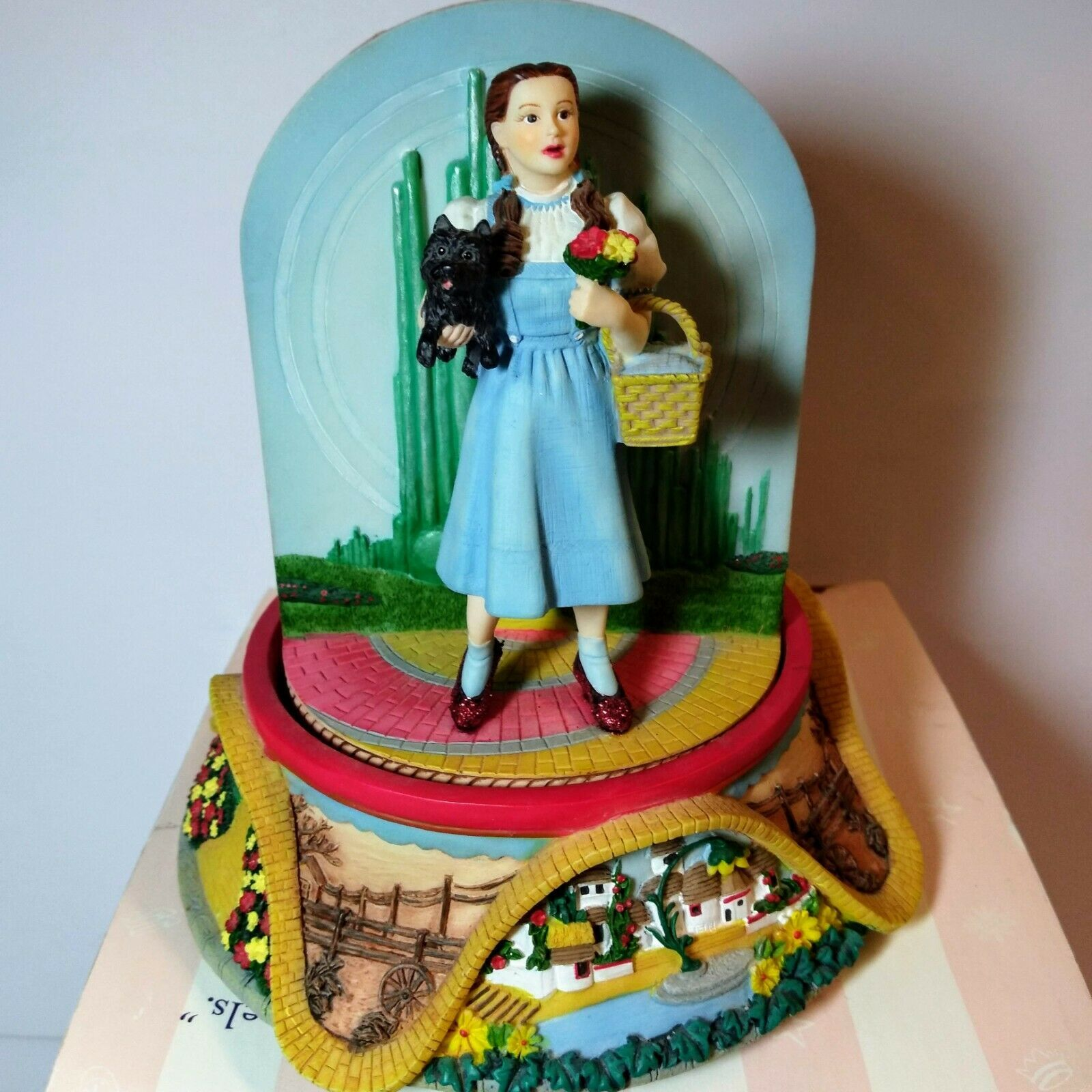 Primary image for San Francisco Music Box Co Wizard of Oz Dorothy Kansas Revolving Emerald City