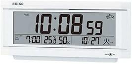 SEIKO clock table clock satellite radio digital calendar temperature JAPAN - $255.00