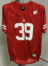 Wisconsin Badgers Football Adidas #39 Red Jersey Youth Size XL PJ Hill E... - $31.18