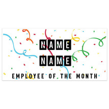 Confetti Employee Of The Month Business Banner - $19.31+