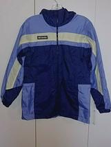 Columbia BOYS/GIRLS Spring Hooded Zip Nylon JACKET-XL(14/16)-GENTLY WORN-LINED - $17.99