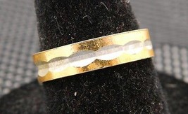 VTG Gold & Silver Tone Metal Ring Signed India Size 6.25 - $5.94