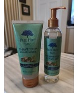 1 Set - Tree Hut Bare Shave Prep Sugar Scrub 9 Oz/Moisture Shave Oil 7.7... - $24.75