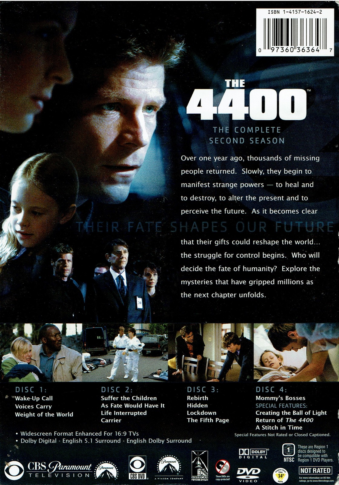 The 4400 - Complete Second Season (DVD, 2006, 4-Disc Set, Widescreen) Like New