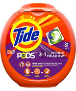 Tide PODS 3 in 1 HE Turbo Laundry Detergent Pacs, Spring Meadow Scent, 8... - $25.99