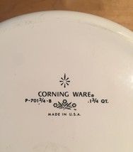 Vintage 60s Corningware 1 3/4 qt buffet server with avocado green outside image 3