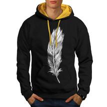 Elegant Feather Sweatshirt Hoody Painting Men Contrast Hoodie - $23.99+