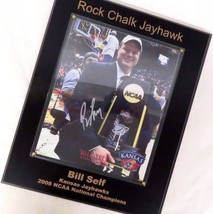 2008 KU Kansas Jayhawks Signed Autographed Bill Self NCAA Championship Plaque - $123.75