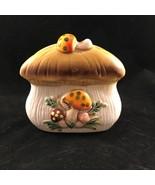 Merry Mushroom Ceramic Napkin Holder VTG Sears Roebuck 1977 MCM Kitchen ... - $14.50