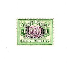 "$4 Dollars State of New York, US Stock Transfer Tax Revenue Stamp, ""4"" O... - $2.01"