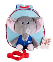 Korean Infant Knapsack Toddle Backpack Prevent From Getting Lose Blue Elephant