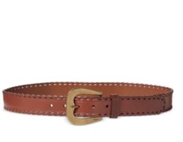 Lauren Ralph Lauren Whipstitched Belt (Cuoio/Gold, XS) - $49.90