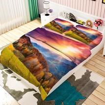 3D Mountains 024 Bed Pillowcases Quilt Duvet Cover Set Single Queen King Size AU - $90.04+