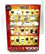 New Sealed Coffee Cafe 1000 Piece Puzzle & Recipes Eurographics Jigsaw Puzzles - $24.99
