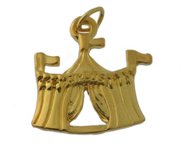 Circus tent carnival fair charm pendant jewelry 24K Gold Plated amusemen... - $15.42