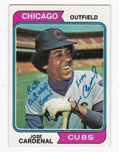 Jose Cardenal Autographed Card 1974 Topps Chicago Cubs Inscribed - $4.98