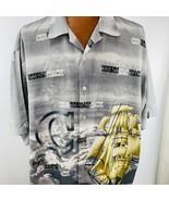 Grangeur Hawaiian Aloha XXL Shirt Counterattack Sailing Ships Sail Boat  - $39.59