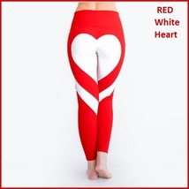Love Heart Bottom Ladies High Waist Skin Tight Stretch Yoga Workout Leggings image 4