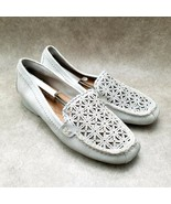 Baretraps Womens Olanna Sz 10 M Silver Leather Slip On Cut Out Loafer Mo... - $24.99
