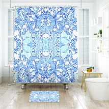Flower Lilly Kappa Kappa Gamma Shower Curtain Waterproof & Bath Mat For Bathroom - $15.30+