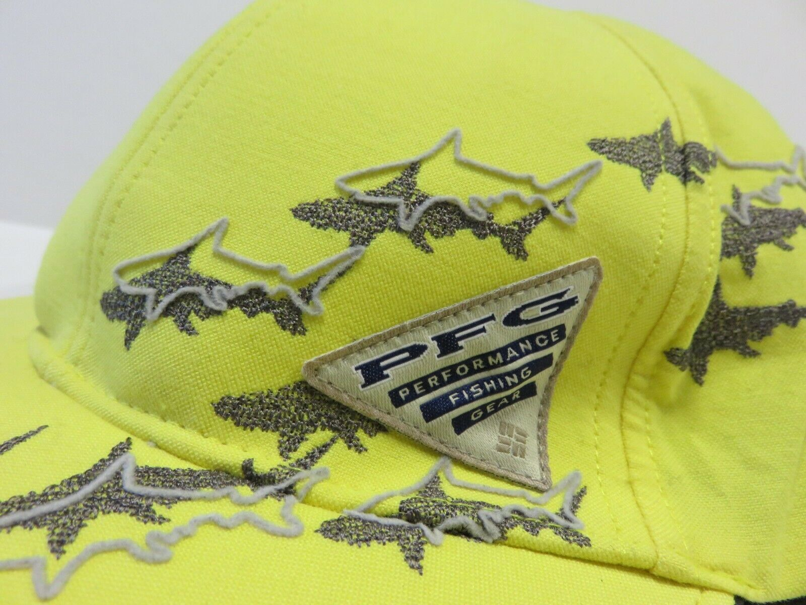 COLUMBIA Sportswear Performance Fishing Gear Yellow Fitted Hat Adult Size L/XL
