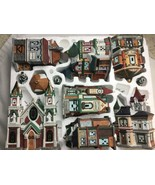 KIRKLAND XMAS VICTORIAN VILLAGE BUILDING AND LIGHTS Parts Only people tr... - $88.72