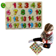 Dazzling Toys Classic Wooden Puzzle - 20 Pc Math Learning Activity Set f... - $9.99