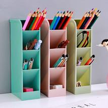 Desk Pen Container Storage Holder Desktop Box Organizer Pencil Office Pl... - $20.71 CAD+