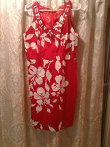 Sandra Darren Size 12 Red and White Floral Dress NWT Closet10 - $20.00