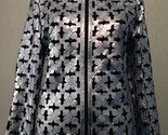gray leather leaf jacket women design 06 genuine short zip up light lightweight 1 thumb155 crop